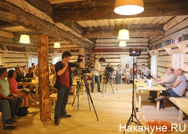 хутор Захара Прилепина, Александр Пыжиков, Захар Прилепин(2018)|Фото: Накануне.RU