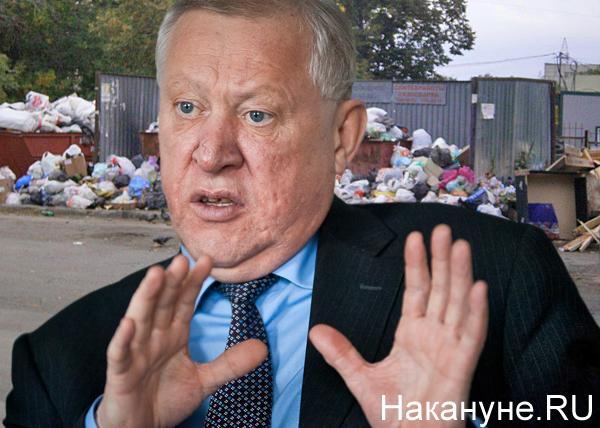 коллаж, Евгений Тефтелев, Челябинск, мусор, мусорки(2018)|Фото: Накануне.RU