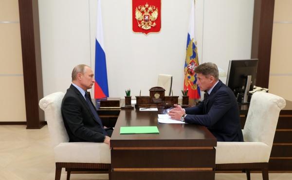 Владимир Путин, Олег Кожемяко(2018)|Фото: kremlin.ru