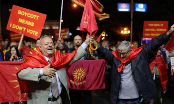 Бойкот референдума в Македонии(2018)|Фото: www.theguardian.com
