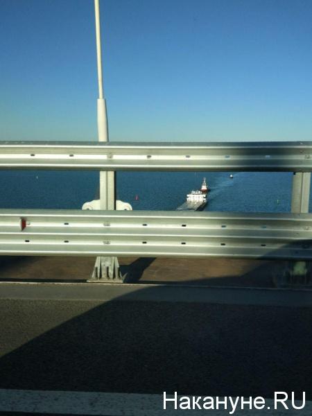 крымский мост, море, крым,корабль(2018)|Фото: Фото:Накануне.RU