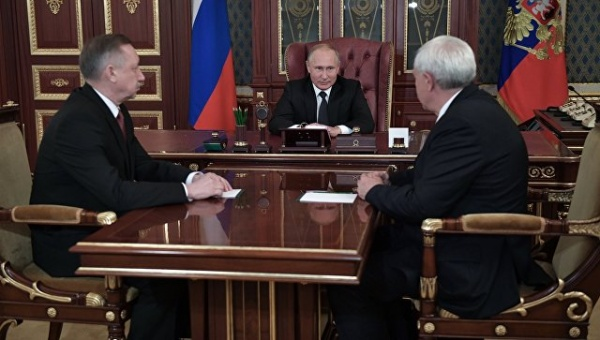 путин,беглов,полтавченко(2018)|Фото:пресс-служба президента РФ
