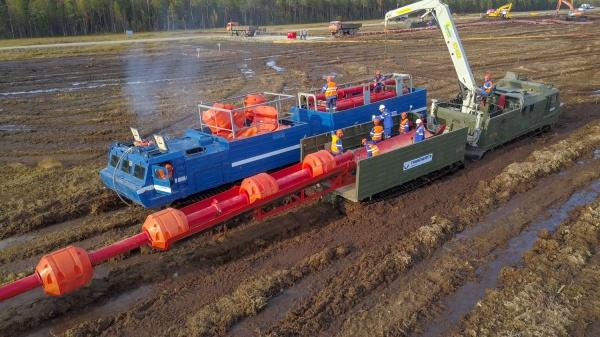Транснефть – Сибирь, ликвидация утечки нефти, тренировка(2018)|Фото: Транснефть – Сибирь