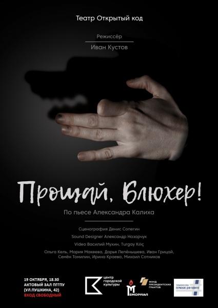 Спектакль Прощай Блюхер(2018)|Фото: pspu.ru