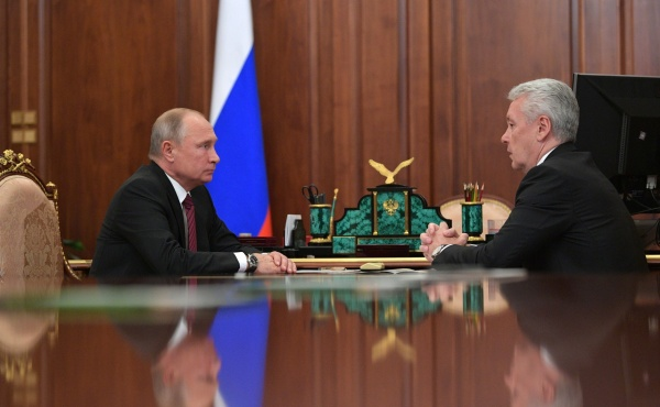 Владимир Путин, Сергей Собянин(2018) Фото:http://kremlin.ru/