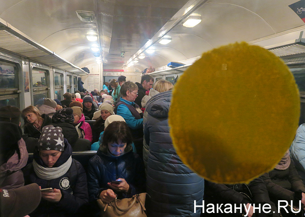 электричка, народ, Пермь(2018)|Фото: Накануне.RU