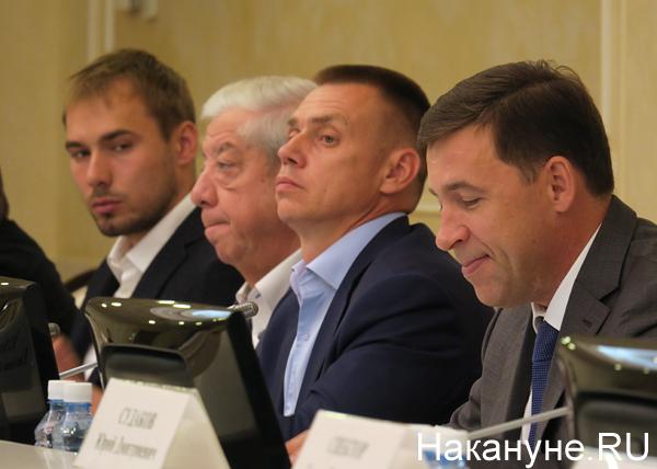 Антон Шипулин, Александр Левин, Сергей Воронин, Евгений Куйвашев(2018)|Фото: Накануне.RU