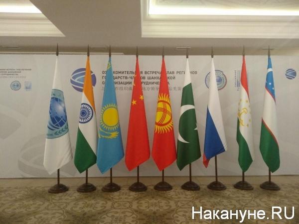 ШОС, флаги(2018)|Фото:Накануне.RU