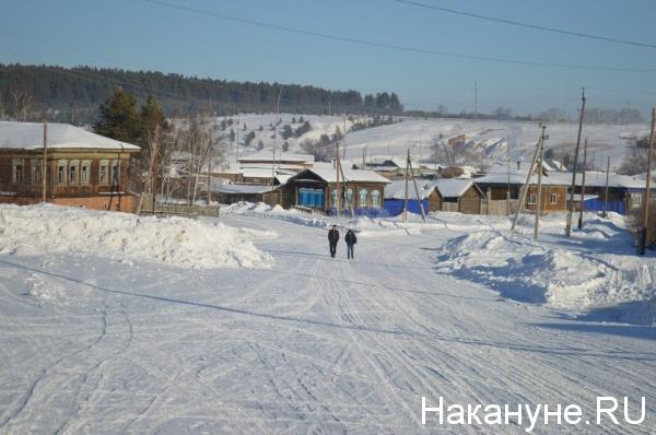 деревня, село, зима, Нижнее, Куртамышский район Курганской области(2019)|Фото: Накануне.RU