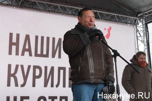 Борис Кагарлицкий, митинг против передачи Курил Японии в Москве(2019)|Фото:Накануне.RU