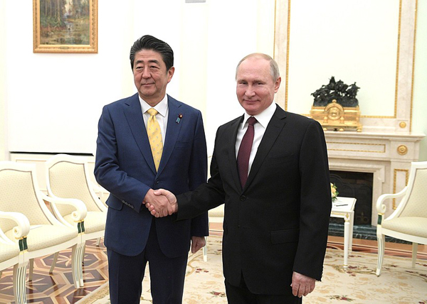 Синдзо Абэ, Владимир Путин(2019)|Фото: kremlin.ru
