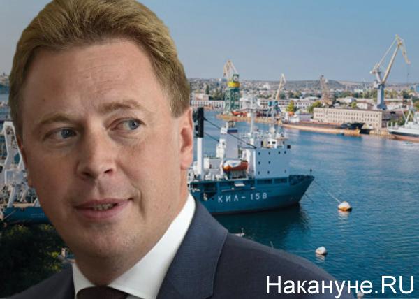 коллаж, Севастопольский морской порт, Дмитрий Овсянников(2019)|Фото: Накануне.RU