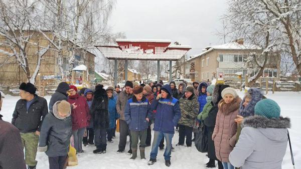 Мошенское, митинг в Новгородской области(2019)|Фото: Коммунистическая партия Коммунисты России