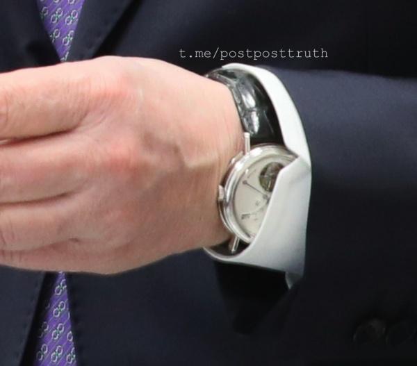 Александр Беглов, часы за 3 млн рублей(2019) Фото: https://t.me/postposttruth
