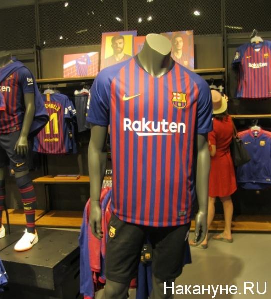 ФК Барселона, форма, фан-шоп(2019)|Фото: Накануне.RU