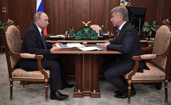 Леонид Михельсон, Владимир Путин(2019)|Фото:Пресс-служба Кремля