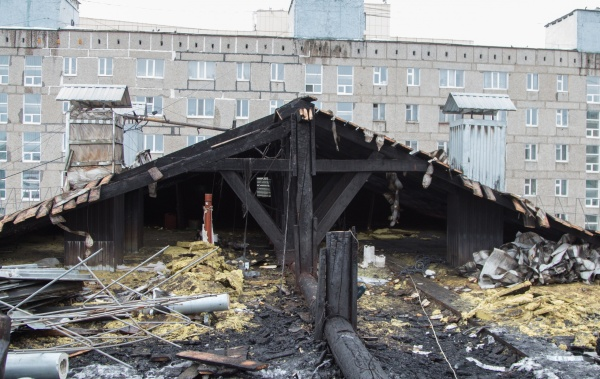 пожар, Чапаева 49, Нижневартовск(2019) Фото: Мэрия Нижневартовска
