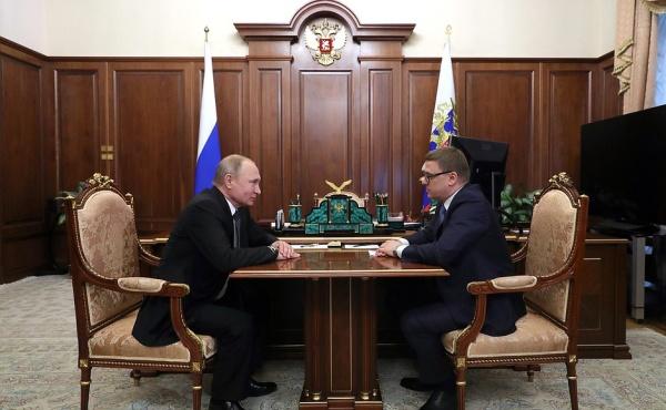 Владимир Путин, Алексей Текслер(2019) Фото: kremlin.ru