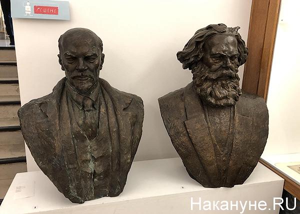 Владимир Ленин, Карл Маркс, бюсты Ленина и Маркса, музей Югославии в Белграде(2019)|Фото: Накануне.RU
