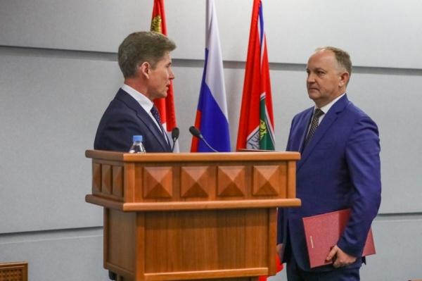 Вступление Олега Гуменюка в должность мэра Владивостока(2019) Фото: www.primorsky.ru
