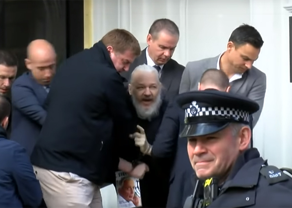 джулиан ассанж, арест(2019)|Фото: RT
