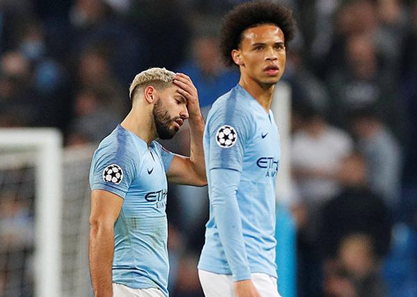 Манчестер Сити, Серхио Агуэро, Лерой Сане(2019) Фото: REUTERS