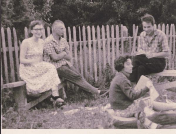 М.В. Попов (крайний справа) на комсомольской стройке(2019) Фото: Архив М.В. Попова