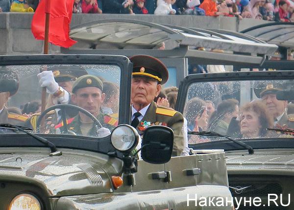ветераны, УАЗ, Парад Победы, Екатеринбург(2019) Фото: Накануне.RU