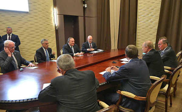 Майк Помпео, Владимир Путин(2019)|Фото: kremlin.ru