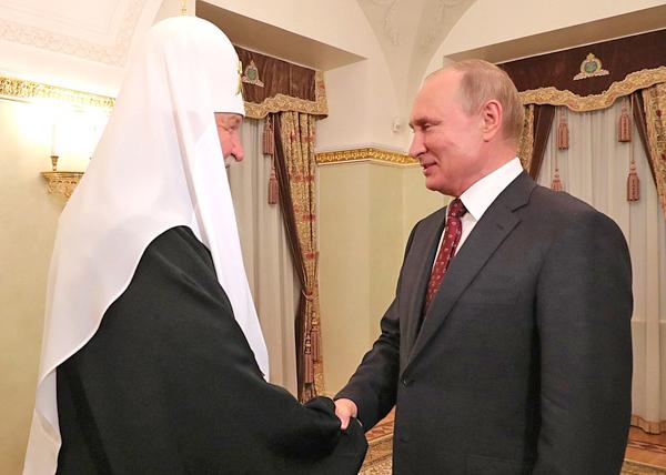 патриарх Московский и всея Руси Кирилл, Владимир Путин(2019)|Фото: kremlin.ru