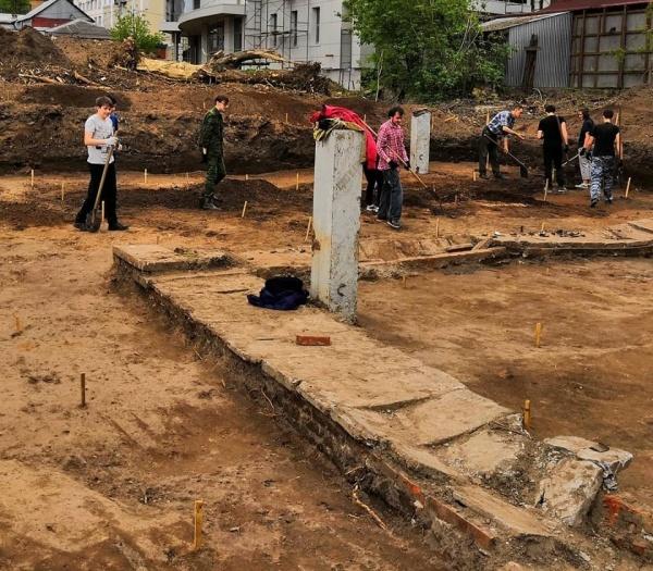 Раскопки кладбище XVIII век Пермь Ленина(2019)|Фото: Григорий Головчанский