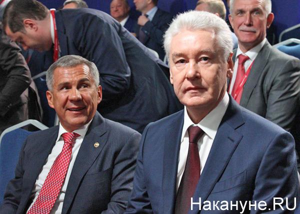 ПМЭФ-2019, Рустам Минниханов, Сергей Собянин(2019)|Фото: Накануне.RU