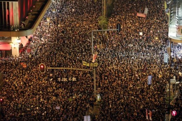 Протесты в Гонконге из-за закона об экстрадиции(2019)|Фото: www.zaobao.com.sg