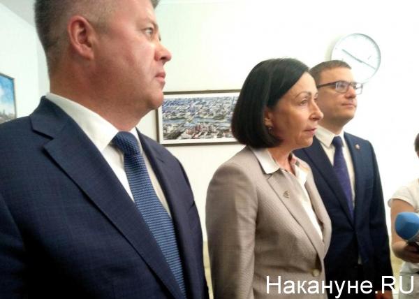 Станислав Мошаров, Наталья Котова, Алексей Текслер(2019)|Фото: Накануне.RU