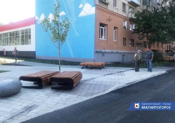 сквер памяти погибших при взрыве дома в Магнитогорске, вандалы,(2019)|Фото: администрация Магнитогорска