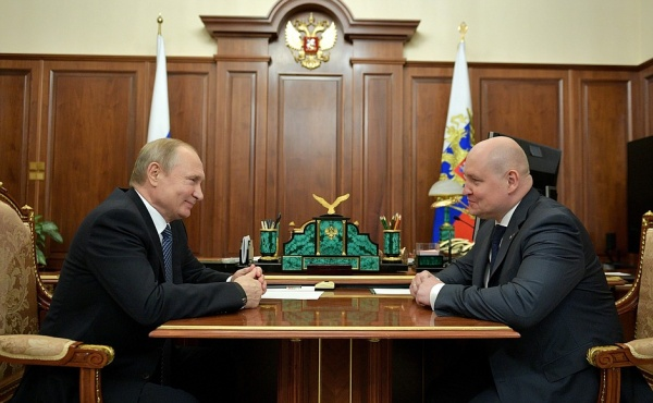 Владимир Путин, Михаил Развозжаев(2019)|Фото: kremlin.ru
