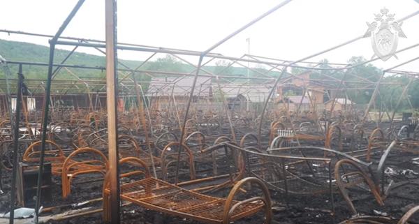 Место пожара в детском лагере в Хабаровском крае(2019)|Фото: Следственный комитет РФ