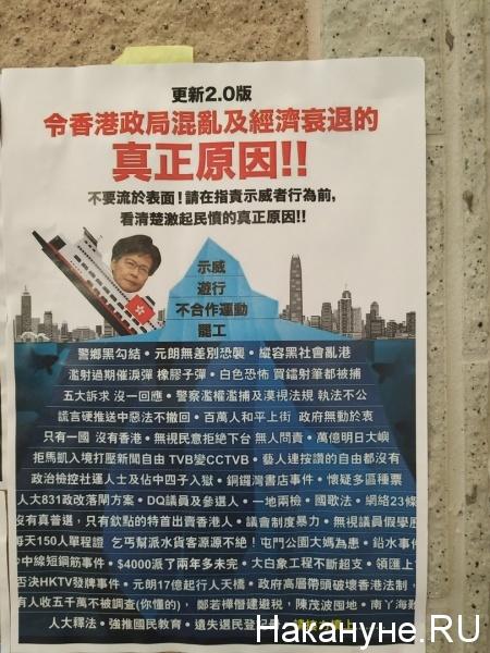 Антиправительственные плакаты в Гонконге(2019)|Фото: Накануне.Ru