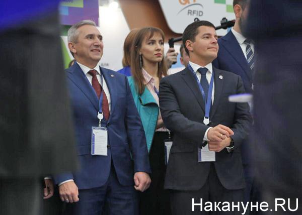 Тюменский нефтегазовый форум, Александр Моор, Дмитрий Артюхов(2019) Фото: Накануне.RU