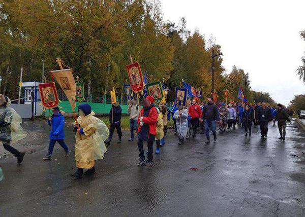 Крестный ход детей, Ганина Яма, Екатеринбург(2019) Фото: Екатеринбургская Епархия РПЦ