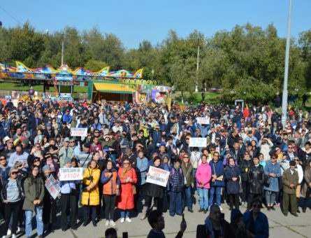 Митинг в Элисте против назначения мэром экс-главы ДНР 13.10.19(2019) Фото: kprf08.ru