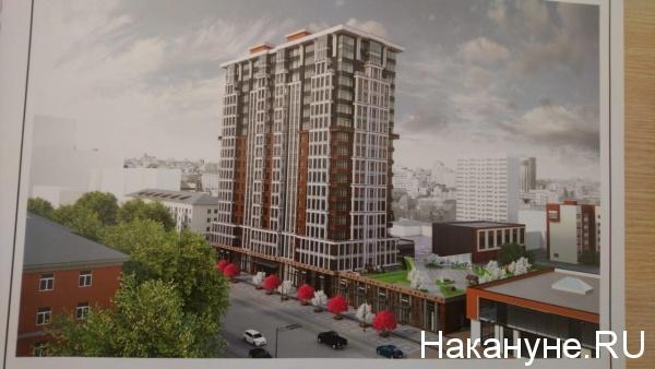 проект многоэтажного дома, станция метро Бажовская, земельный участок(2019)|Фото: Накануне.RU