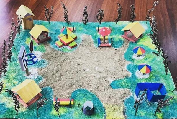 двор, ТОС, детская площадка, рисунок(2019)|Фото: пресс-служба Воронежской областной думы