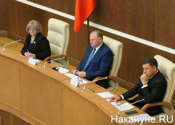 Людмила Бабушкина, Николай Цуканов, Евгений Куйвашев(2019) Фото: Накануне.RU