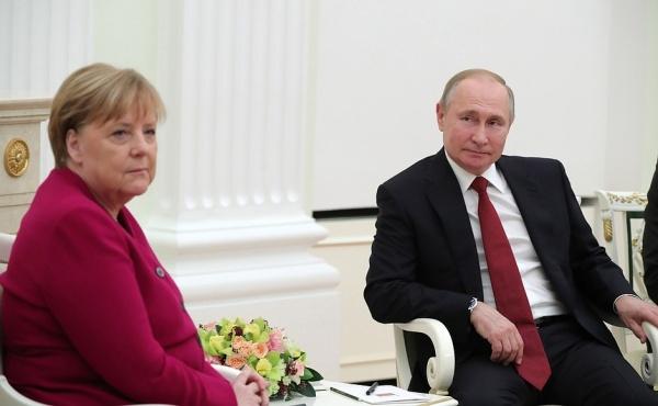 Владимир Путин, Ангела Меркель(2020)|Фото: kremlin.ru