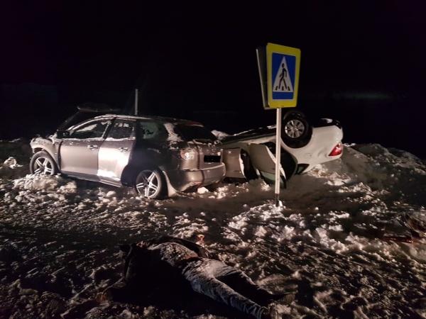 ДТП с участием Mazda и Lada Granta на Ямале 18.01.20.(2020) Фото: ГУ МЧС РФ по ЯНАО