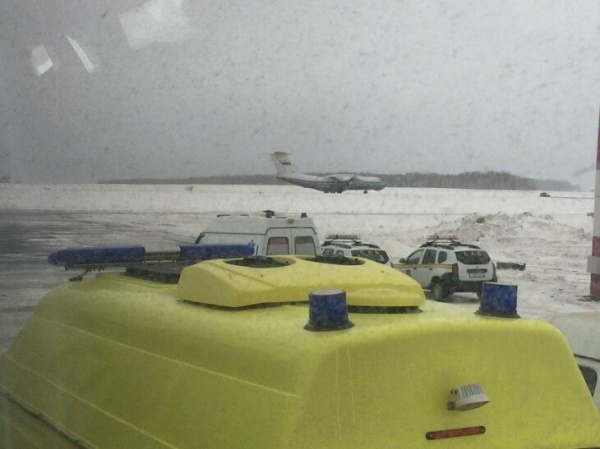 Самолет ВКС, эвакуация, Рощино(2020)|Фото: Оперативный штаб по предотвращению распростаранения коронавируса в Тюмени