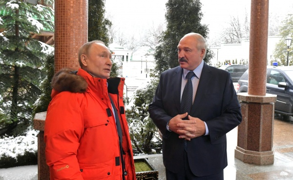 Владимир Путин и Александр Лукашенко(2020) Фото: пресс-служба президента России