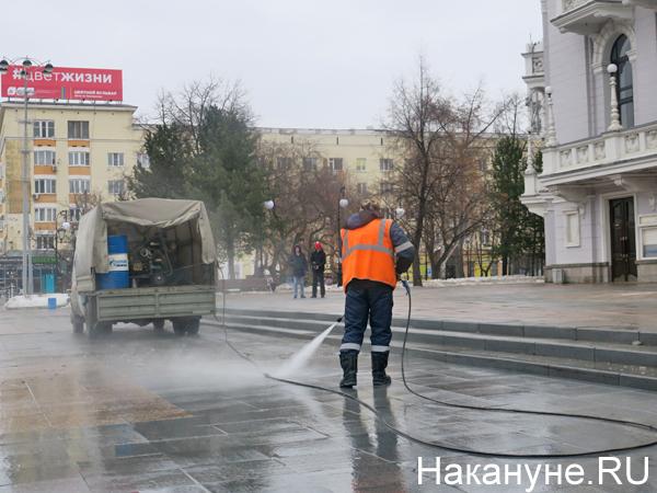 Уборка дороги, чистка снега(2020) Фото: Накануне.RU