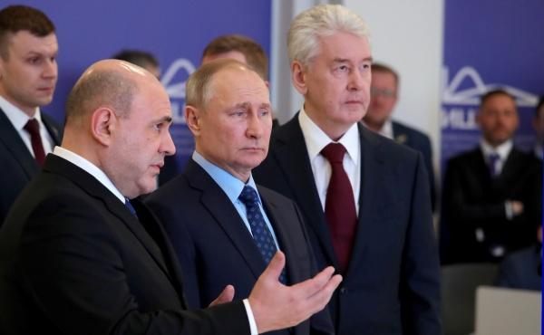 Михаил Мишустин, Владимир Путин, Сергей Собянин(2020)|Фото: kremlin.ru